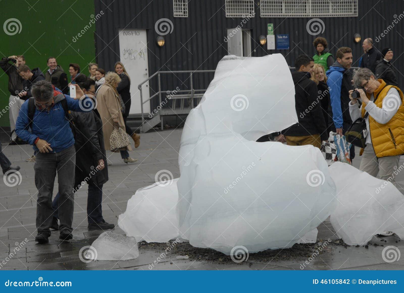 从NUK格陵兰的冰块