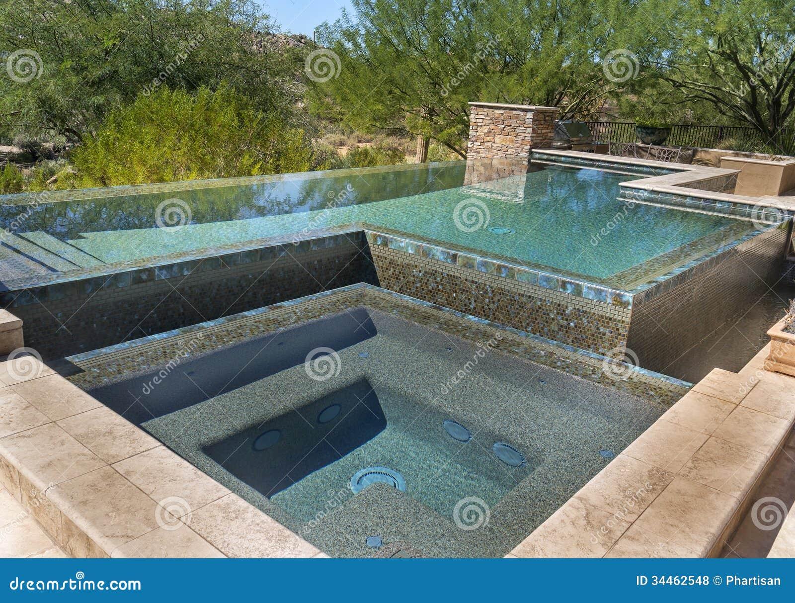 Nul horizon modern zwembad royalty vrije stock foto 39 s beeld 34462548 for Modern zwembad