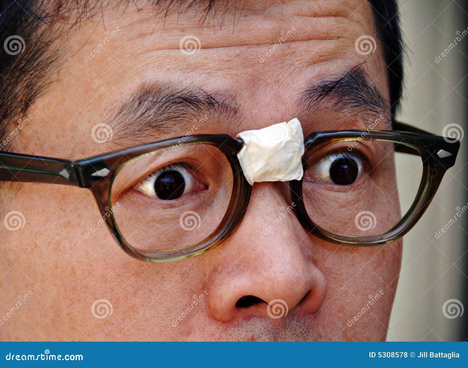 Download Nullità Asiatica Sorpresa In Vetri Fotografia Stock - Immagine di espressione, preoccupato: 5308578