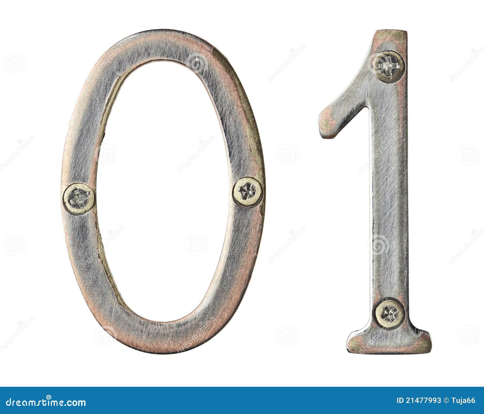 Numéros en métal