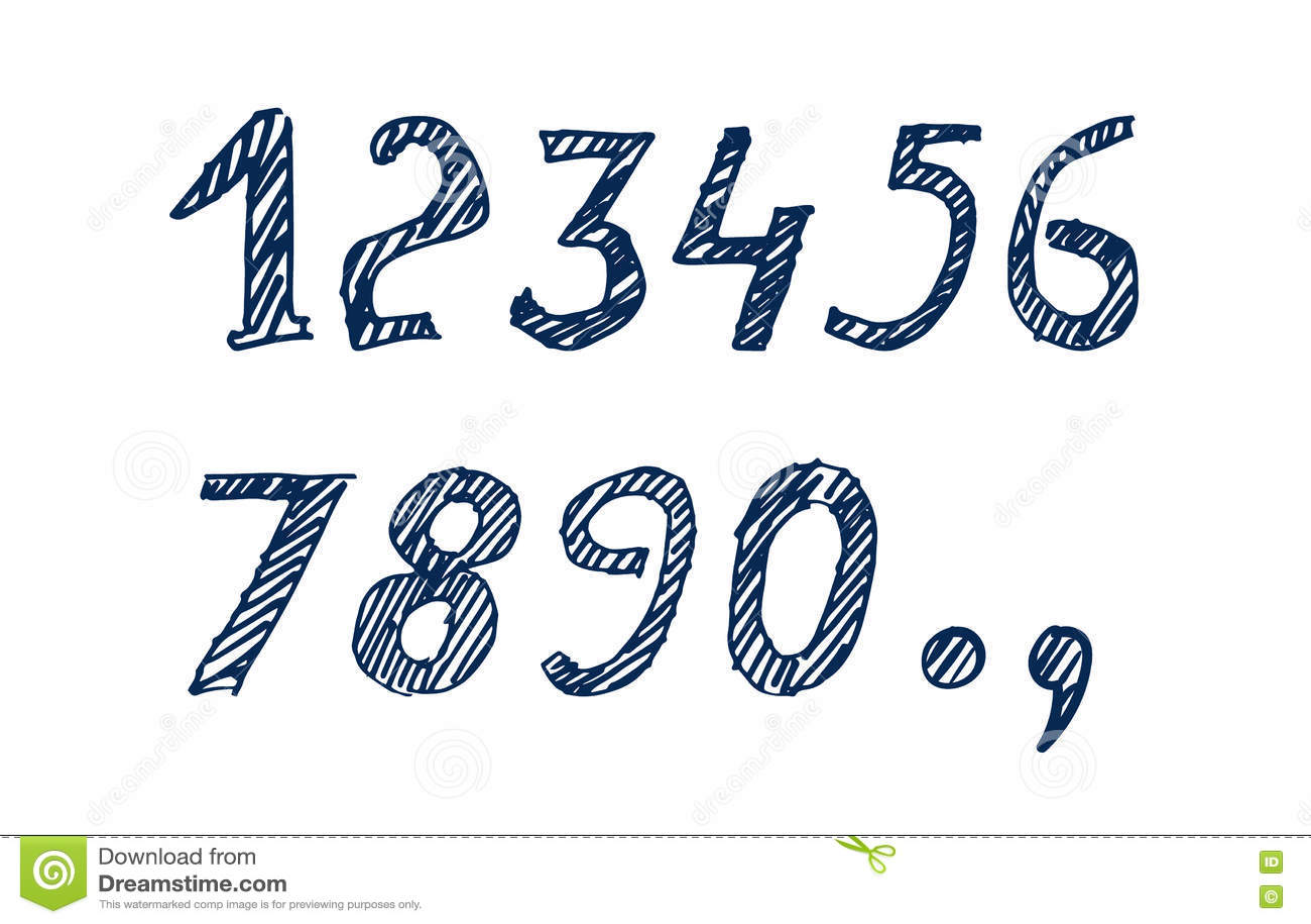 Numéros tirés par la main