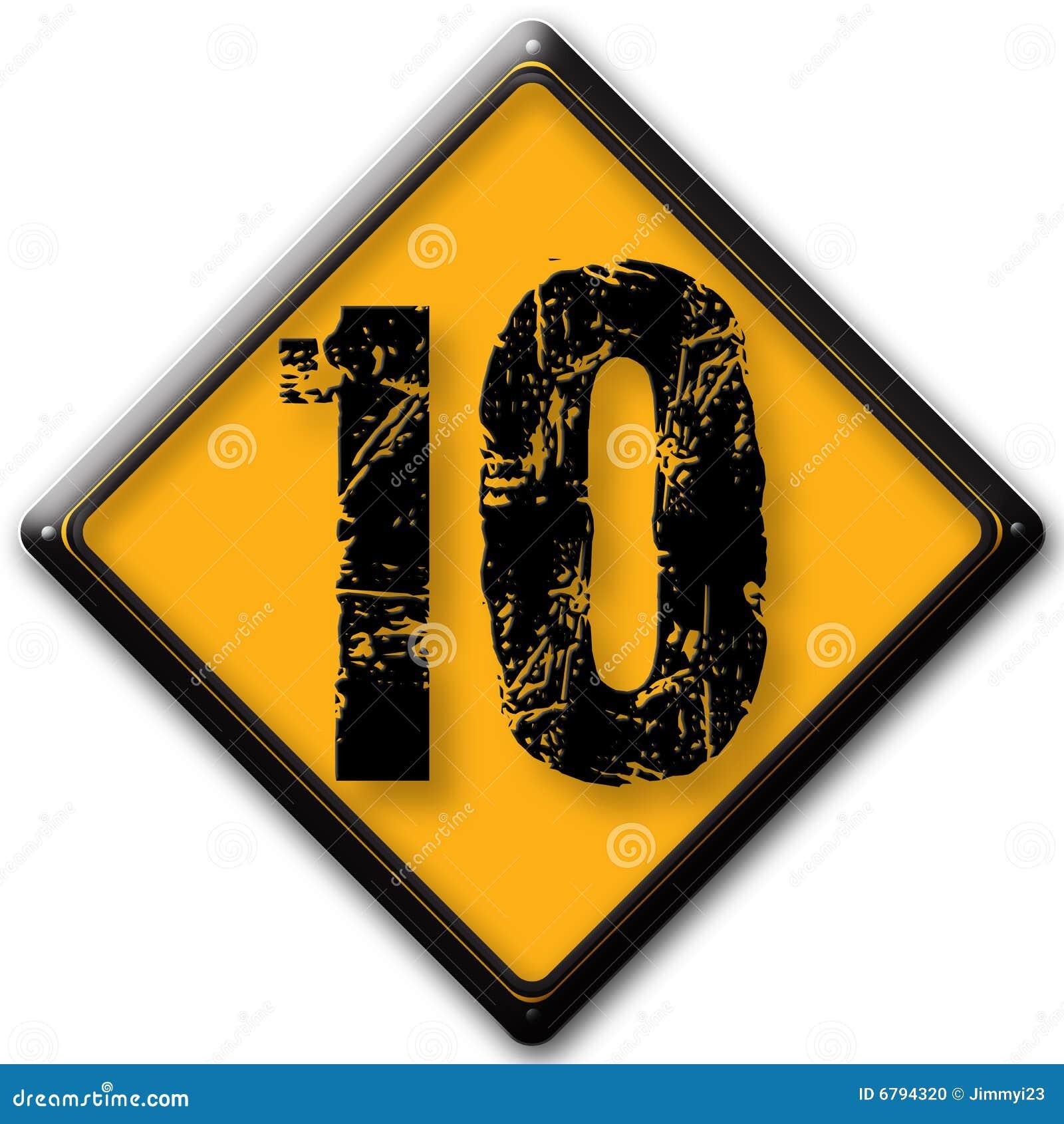Number 10 stock illustration. Illustration of yellow, hard - 6794320