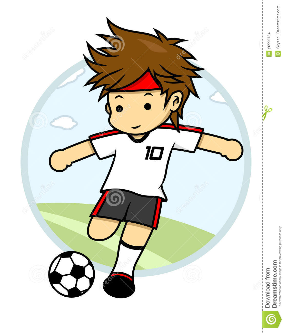 Number 10 Soccer Player Is Trying To Kick The Ball Stock Images ...