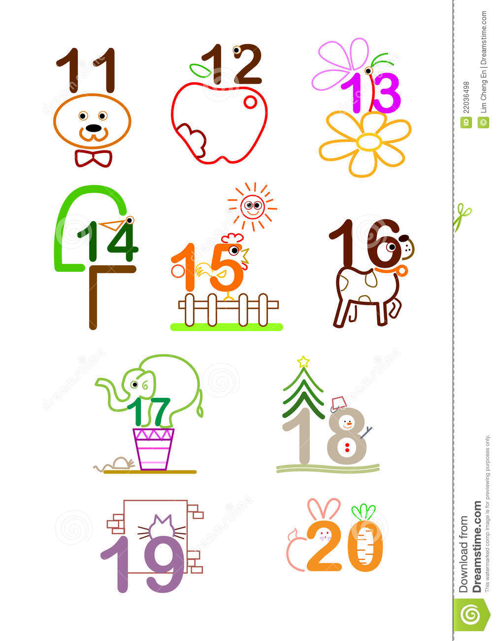 Number 11 - 20 Royalty Free Stock Photos