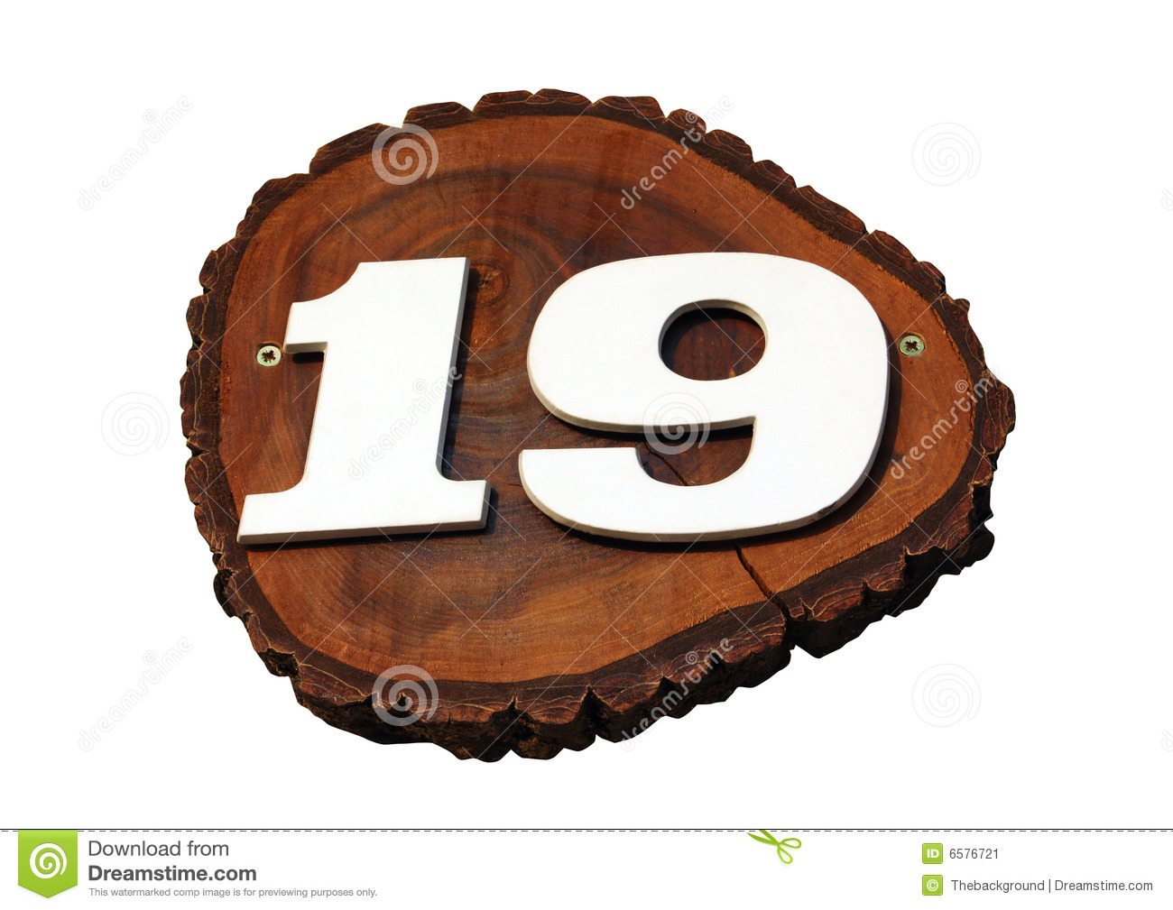 number 19 stock image