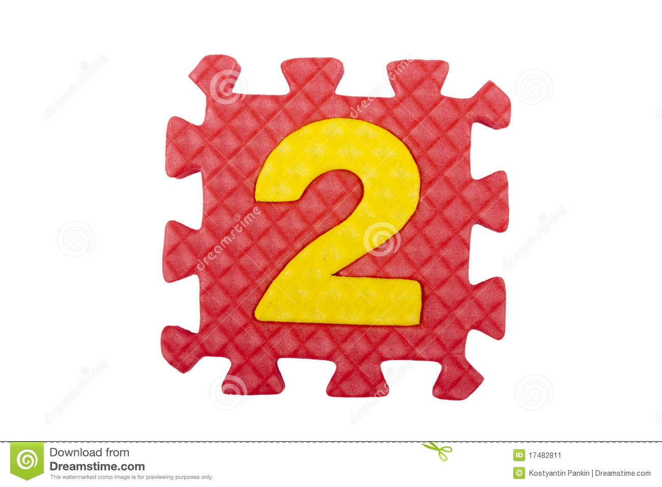The figure 2 of a set of puzzles made out of polystyrene on a white ...
