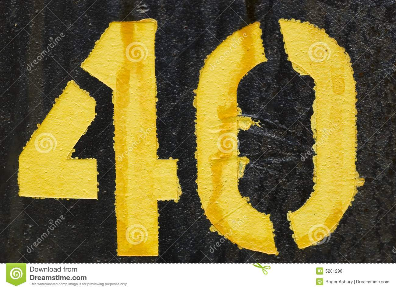 The Number 40 Royalty Free Stock Image Image 5201296