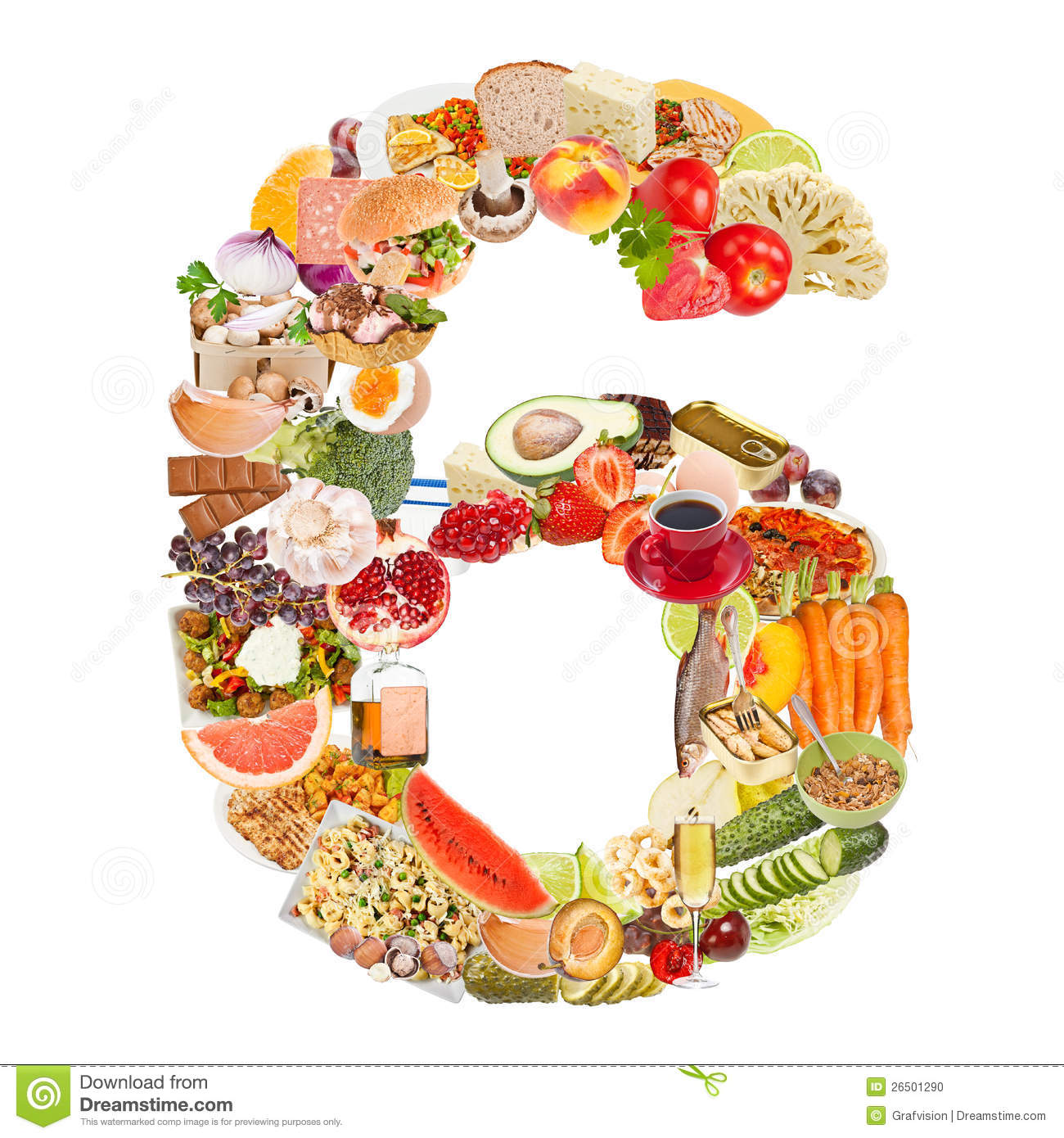 number 6 made of food stock photo  image of fruit  group