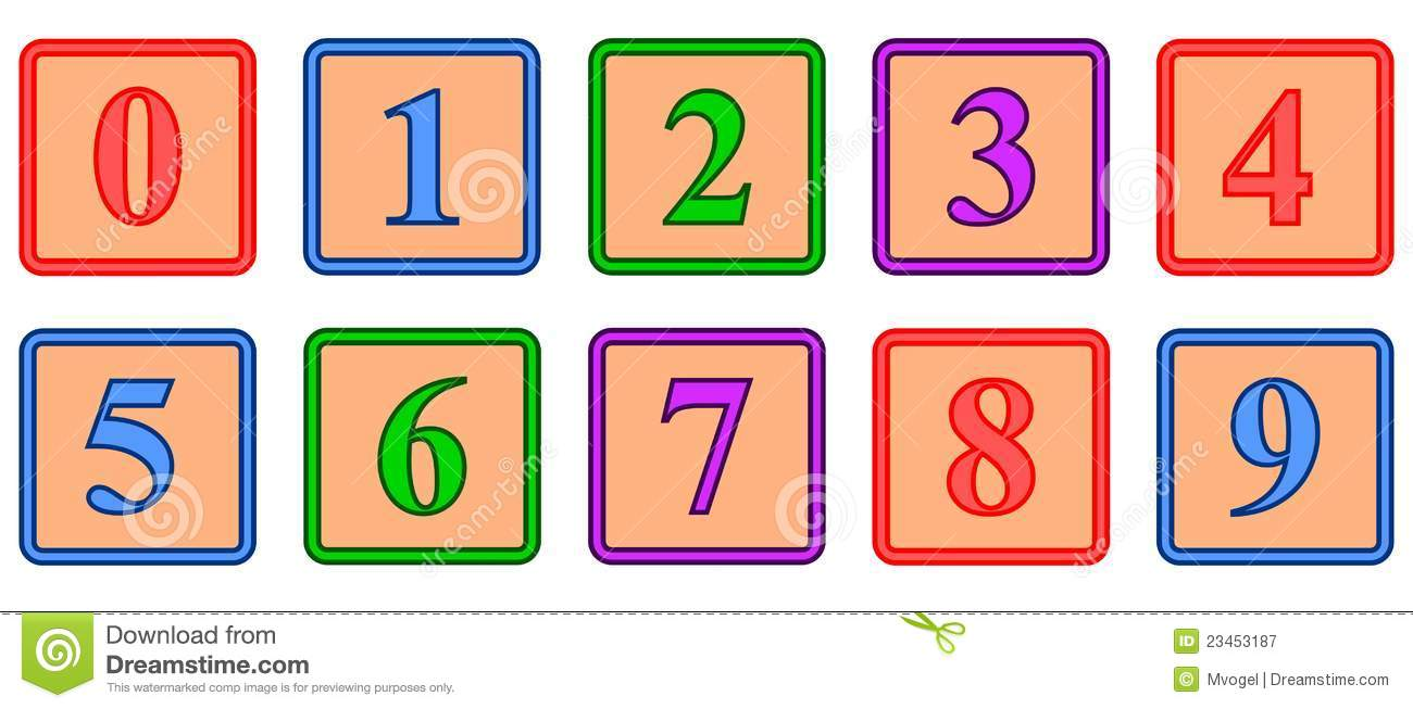 Number Blocks Royalty Free Stock Photography - Image: 23453187