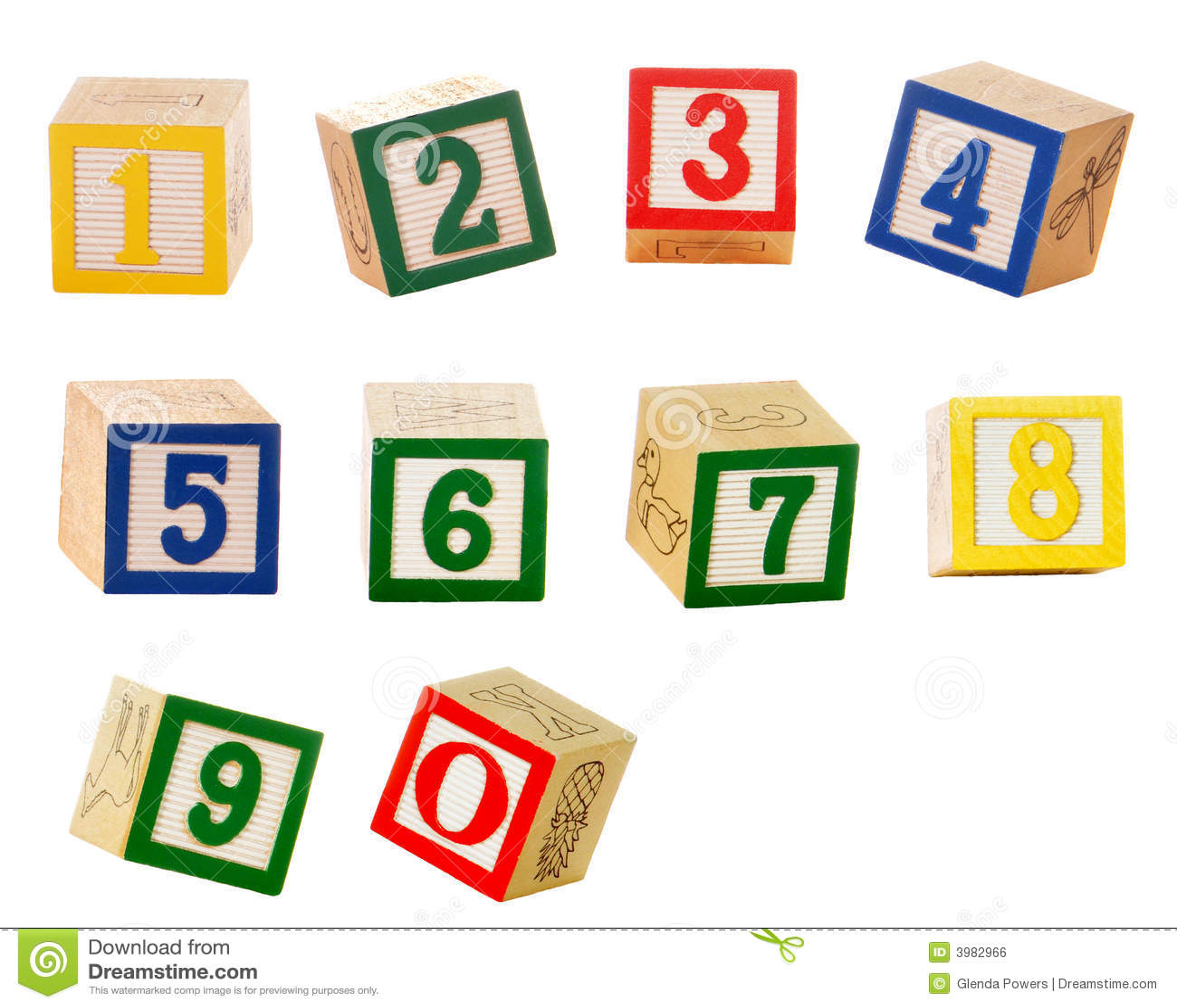 Number Blocks Royalty Free Stock Image - Image: 3982966