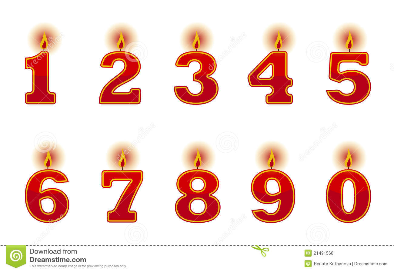 Number Candles Stock Photo Image 21491560