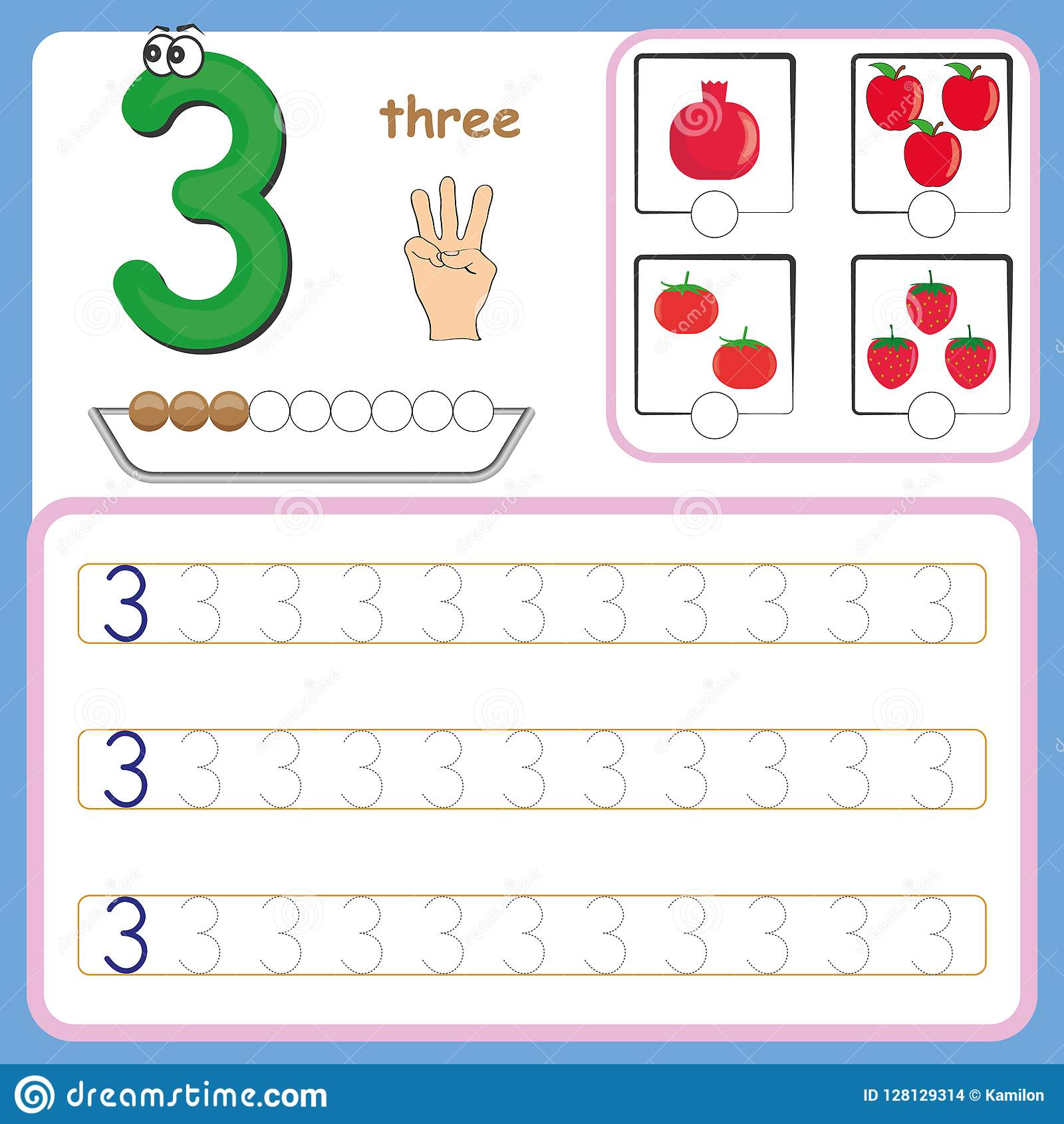 number cards counting and writing numbers learning numbers numbers tracing worksheet for. Black Bedroom Furniture Sets. Home Design Ideas