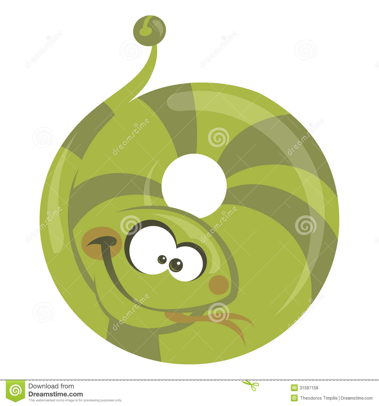 Download Number 0 Cartoon Funny Snake Stock Vector - Illustration of cool, funny: 31587158