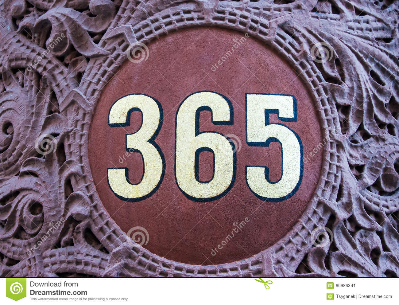 Calendar Year Number Of Days : Number days in a year symbol stock photo image