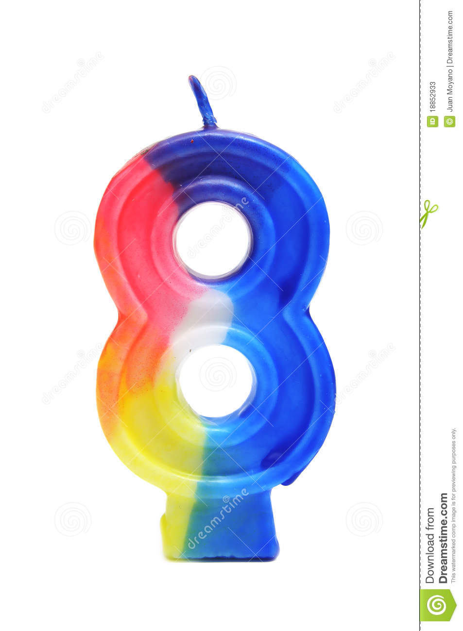 Number Eight Birthday Cake Candle Stock Image Image
