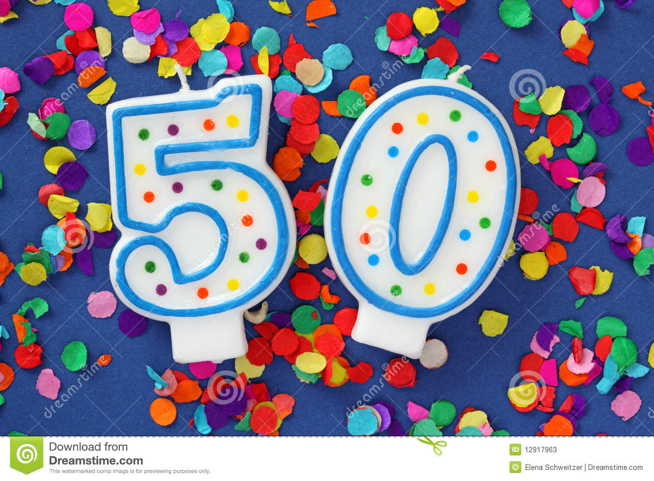 Number Fifty Birthday Candle Stock Photos - Image: 12917963