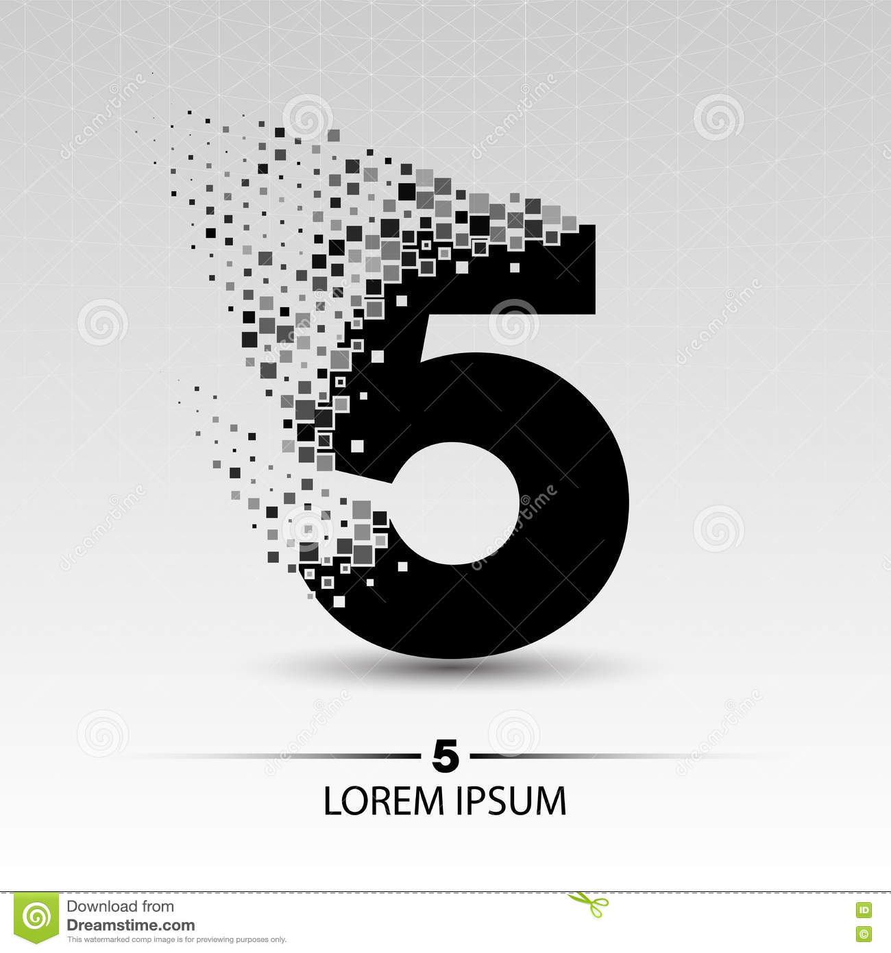 Number five logo design stock illustration. Image of ...