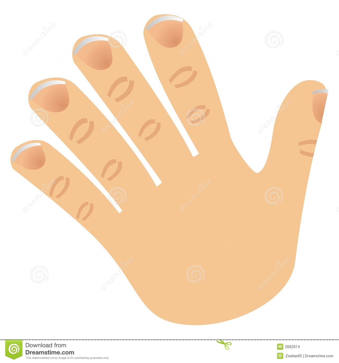 Number Five Made With Fingers Stock Vector - Illustration ...