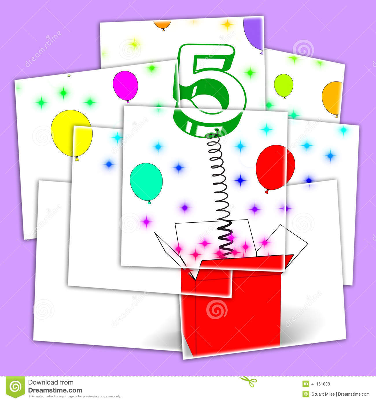 Number Five Surprise Box Displays Surprise Party Or Festivity