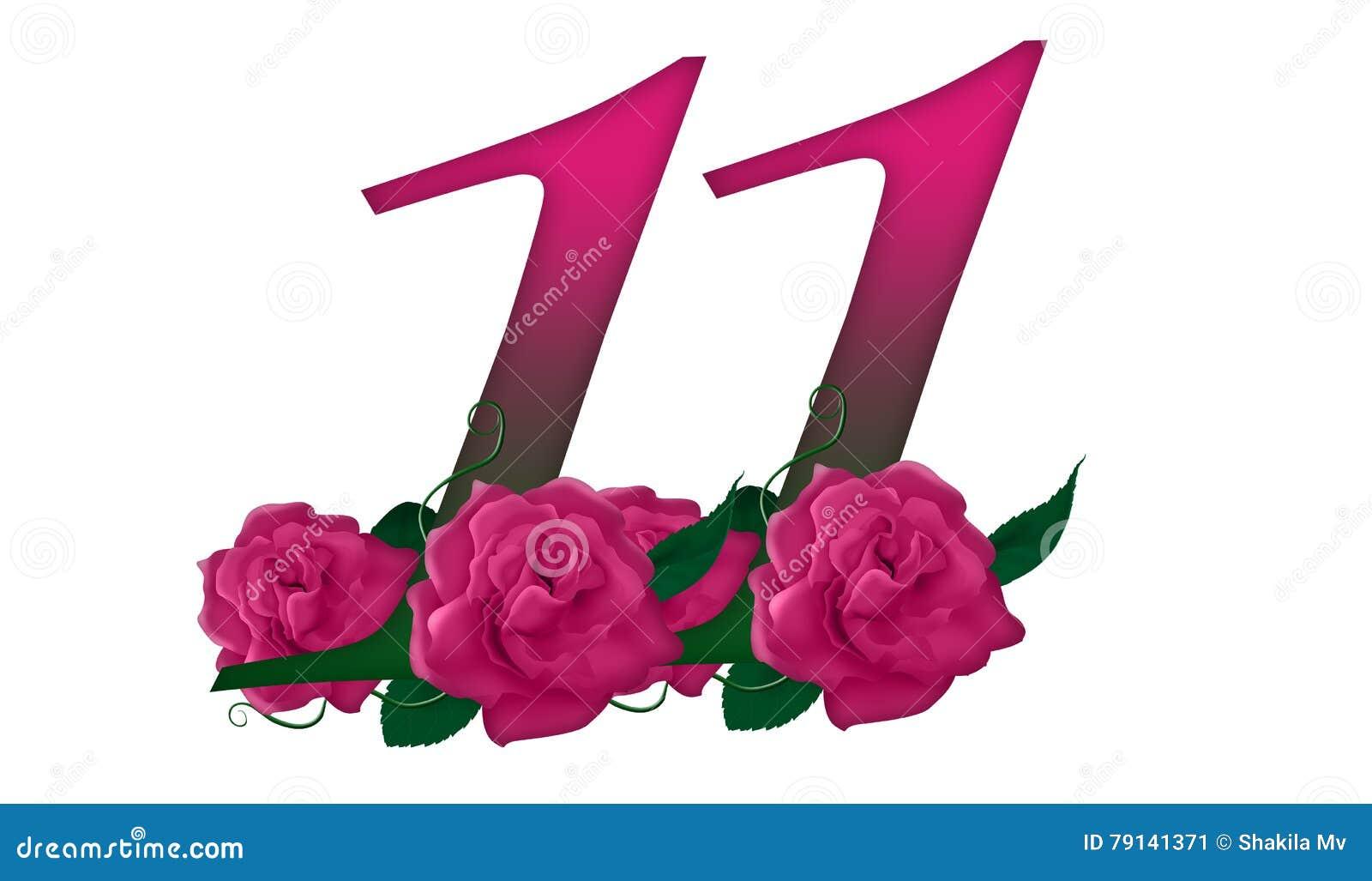 11 >> Number 11 Floral Stock Illustration Illustration Of Element 79141371