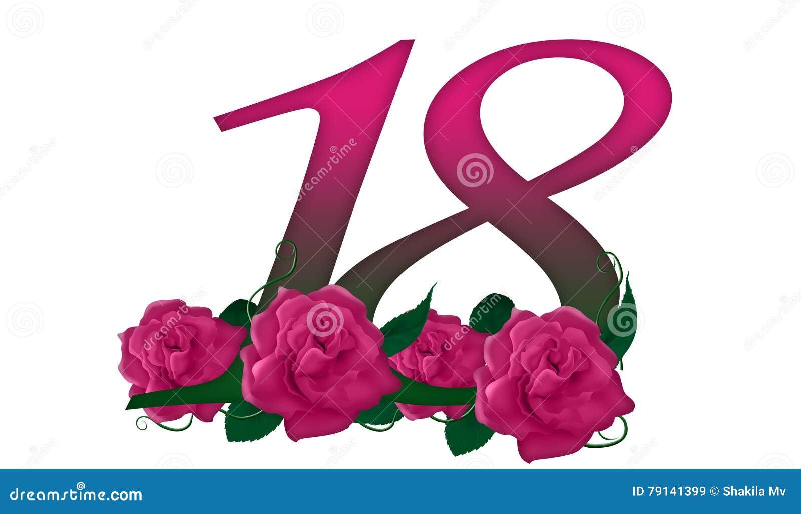 Number 18 floral