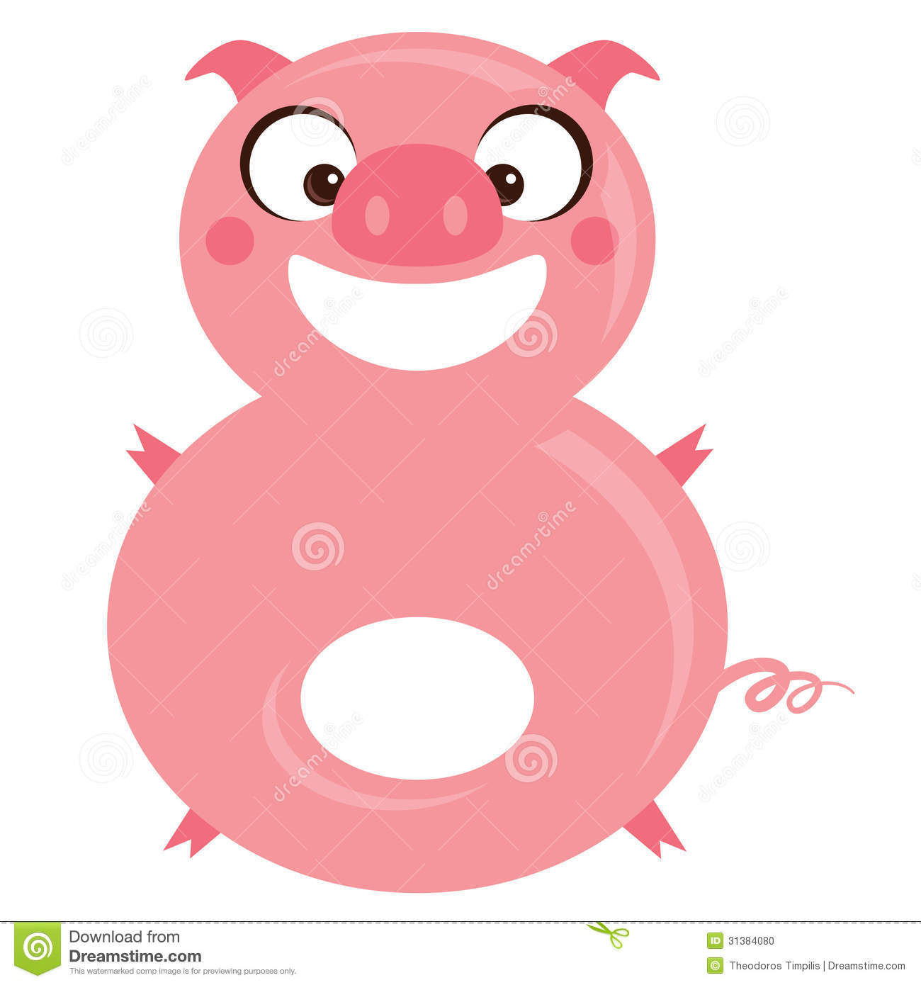 number 8 funny cartoon smiling pig stock photo image silly face clip art free silly smiley face clip art