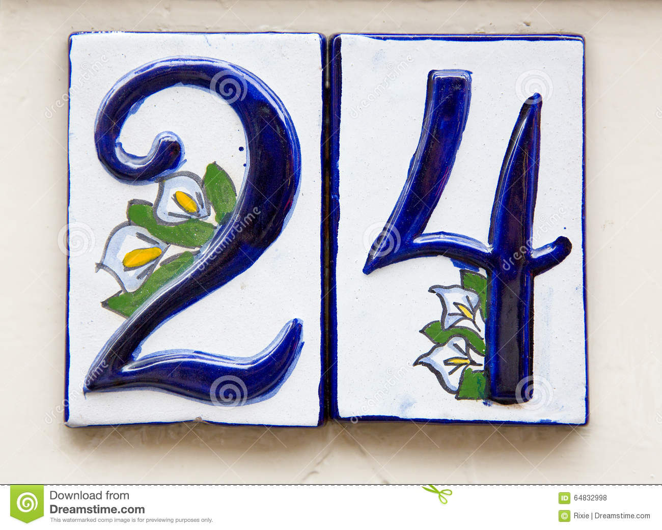 Number 24 stock photo. Image of calla, numbers, sign ...