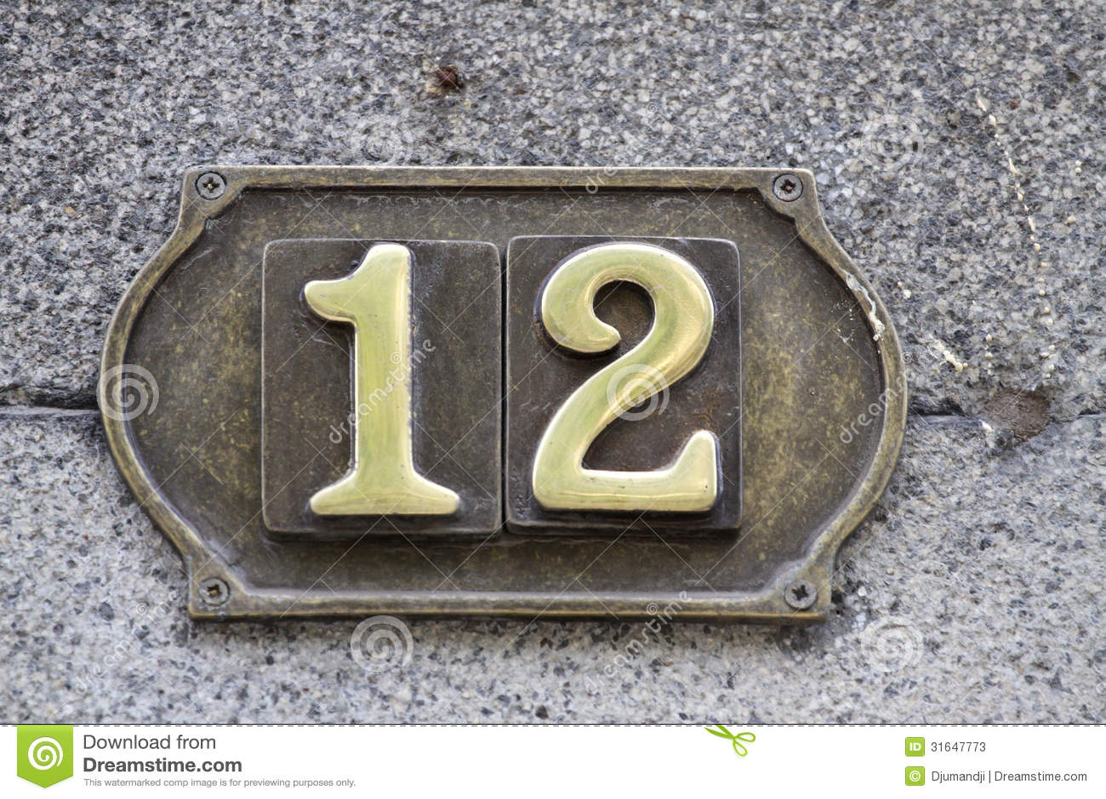 number 12 stock photos