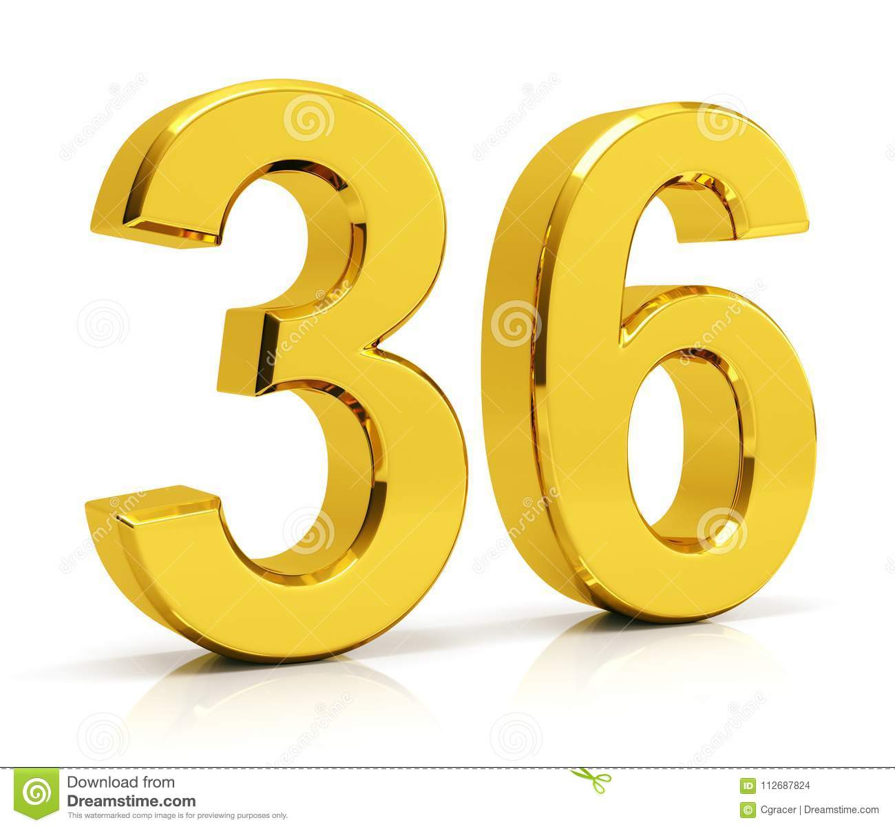 Number 36 Stock Illustration  Illustration Of Isolated