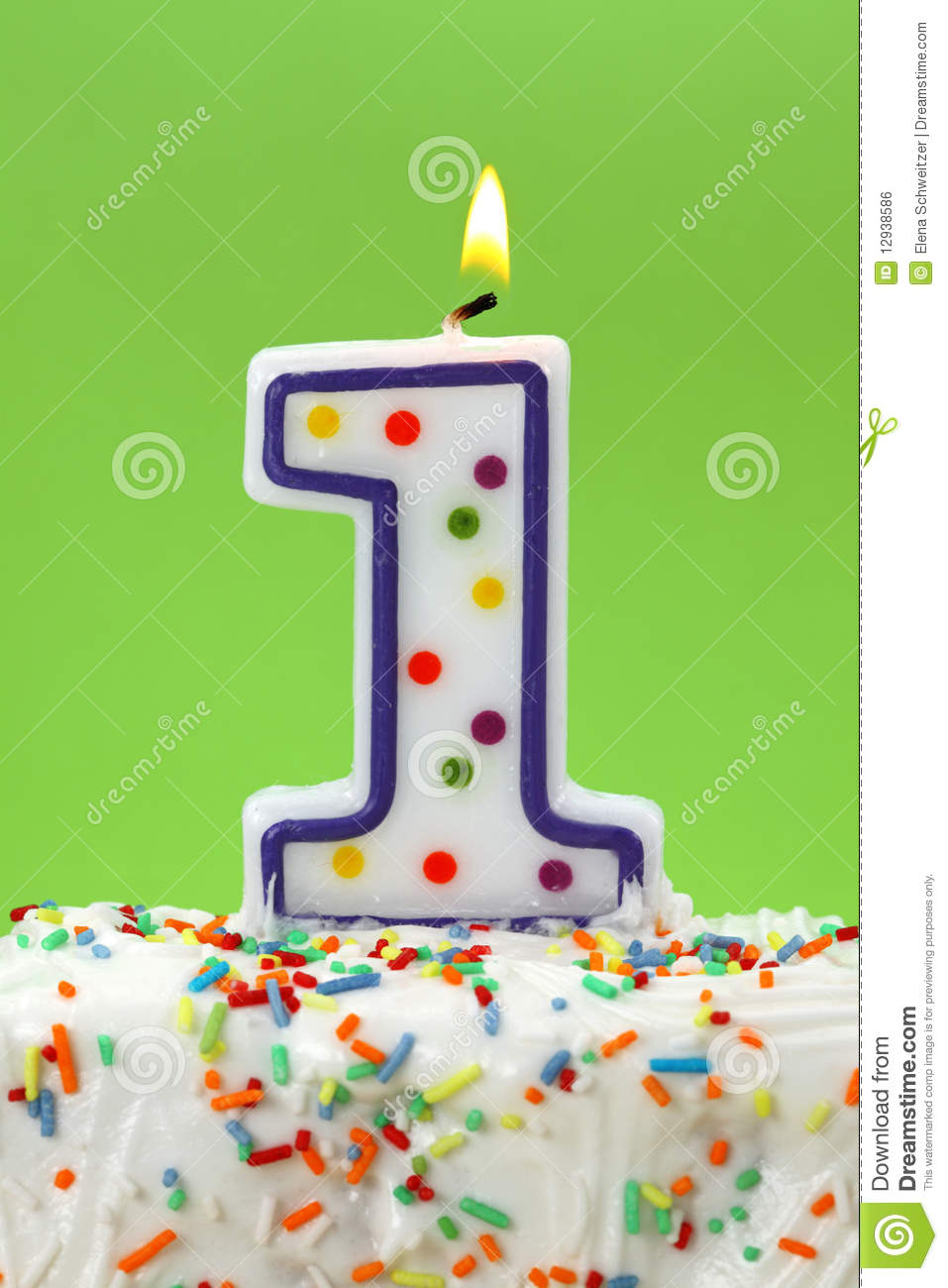Number One Birthday Candle