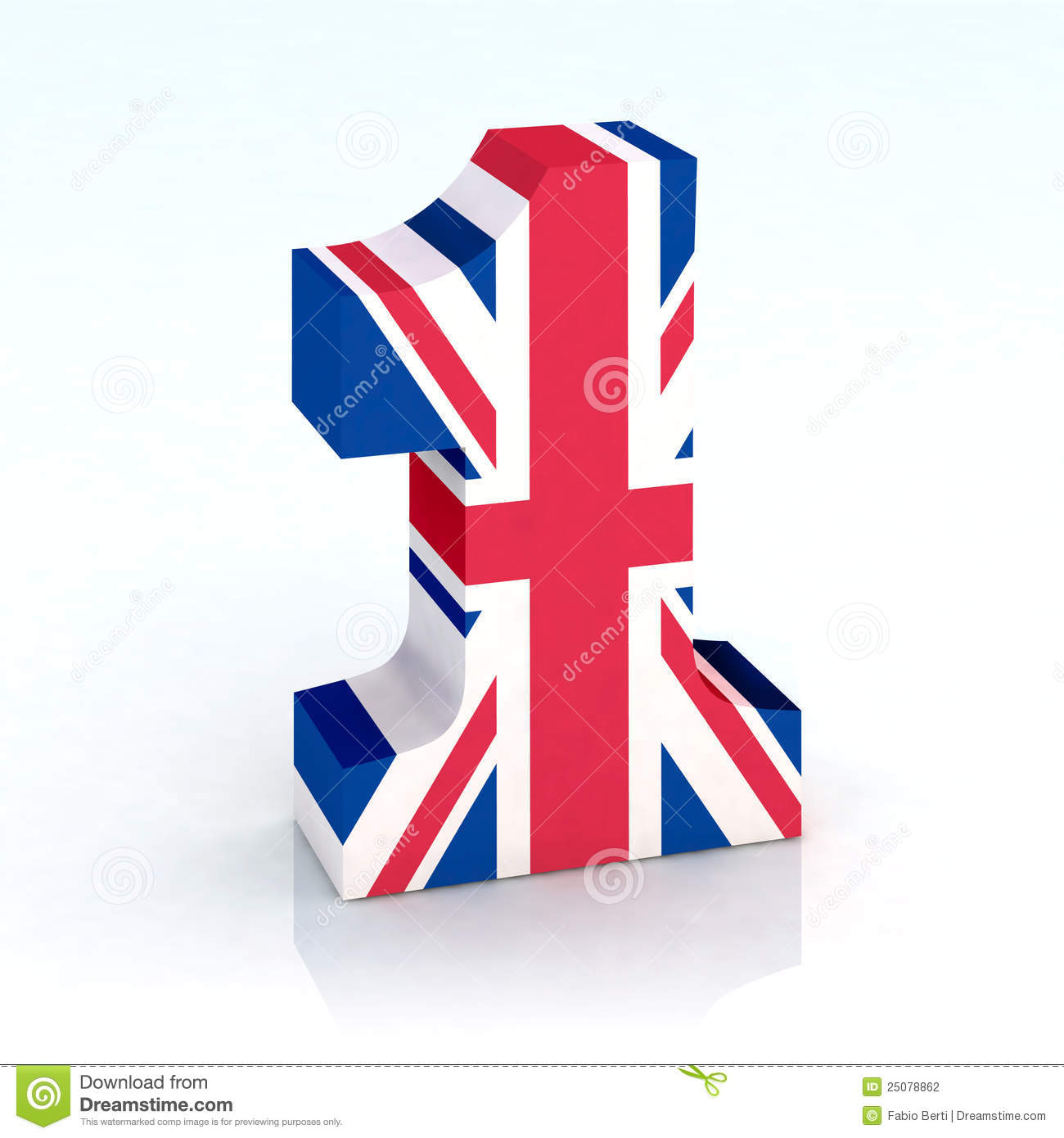 Http Www Dreamstime Com Stock Photography Number One English Flag Image25078862