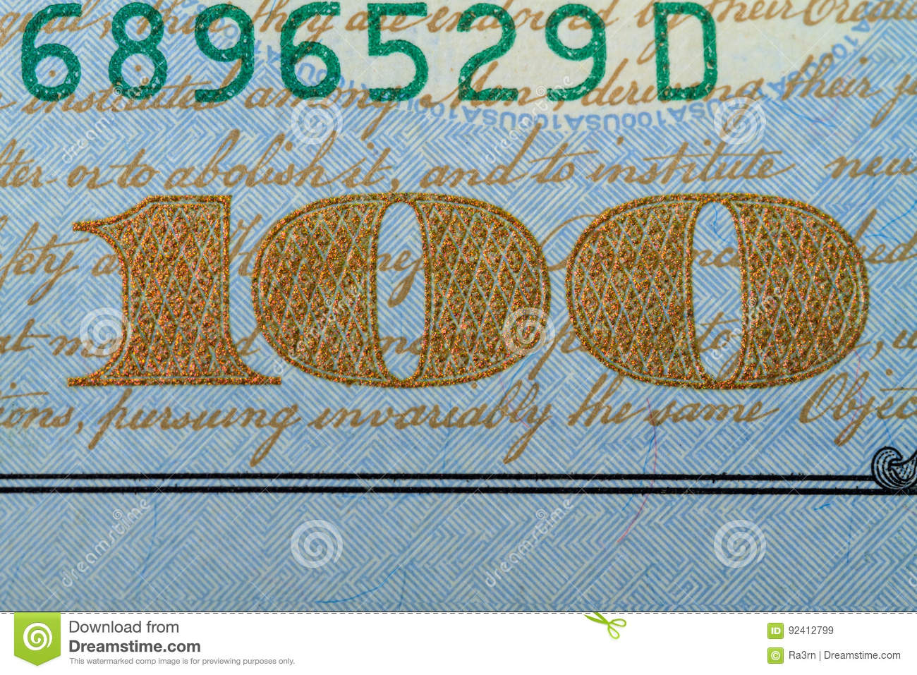 Download Number One Hundred On A Banknote 100 Dollars Stock Image - Image of hundred, textured: 92412799