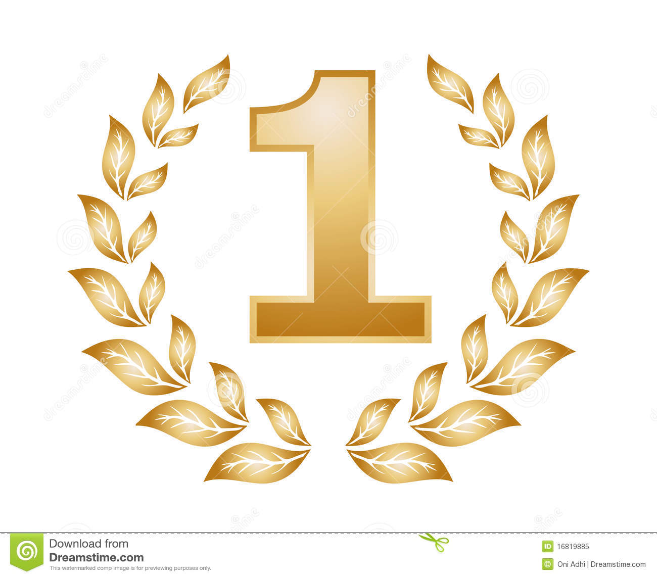 Number One Medal Royalty Free Stock Photo - Image: 16819885