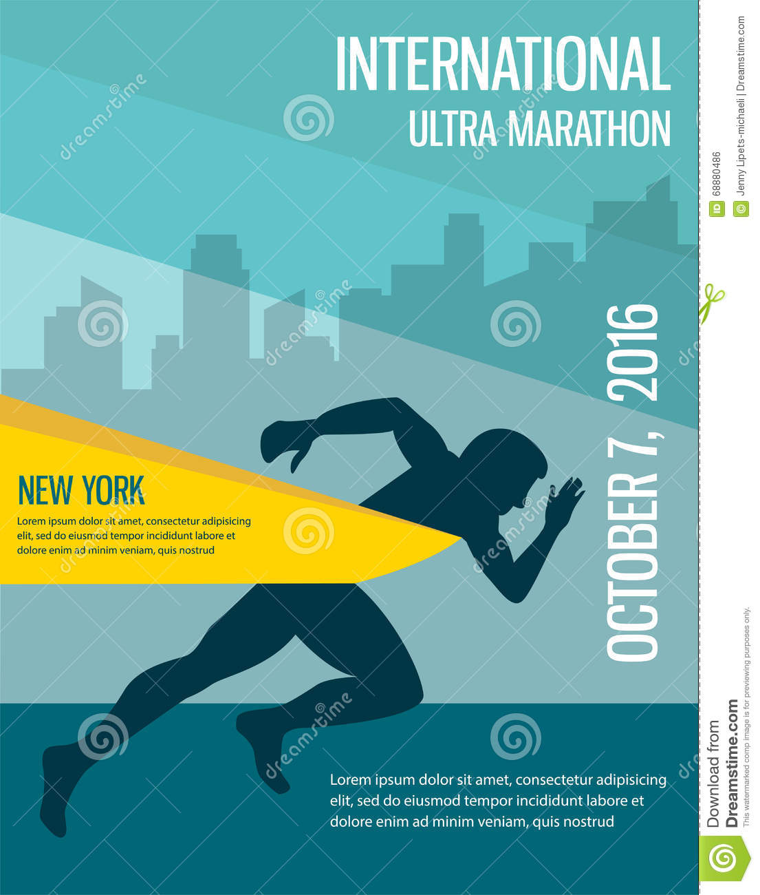 Poster design template - Number One Winner At A Finish Line Poster Design Template