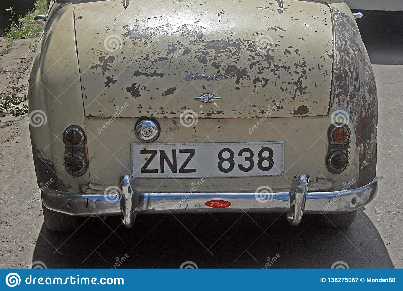 Zanzibar license plate editorial photography  Image of