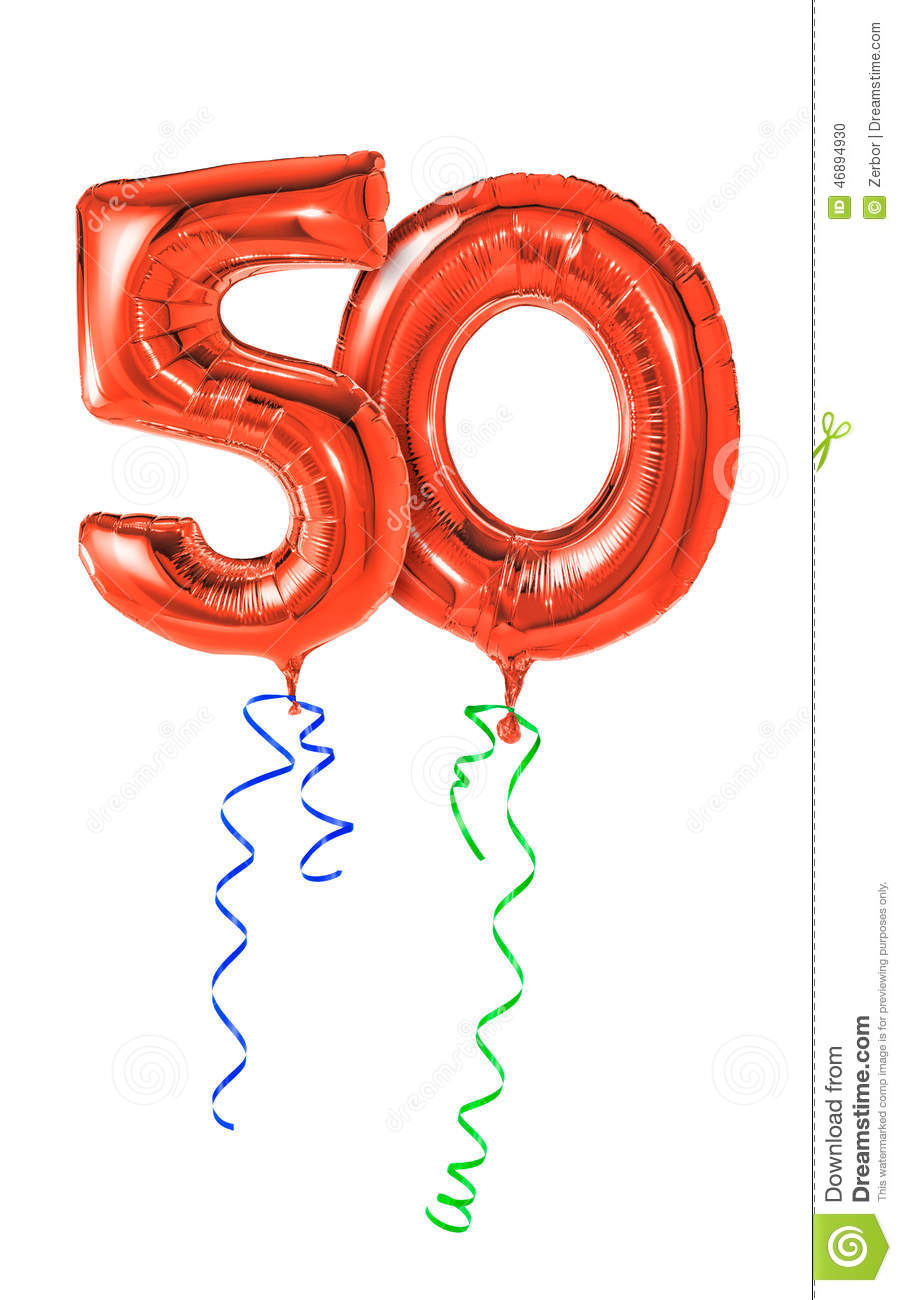 The 50 Best Fashion Tips Of All Time: Number 50 Stock Photo. Image Of Helium, Isolated