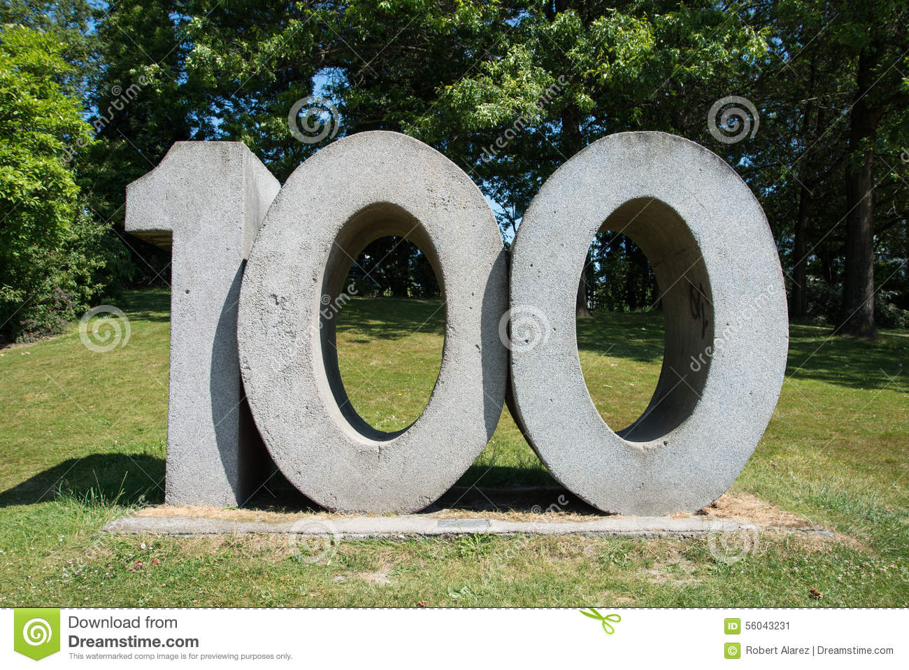 the number 100 stock image  image of concrete  number