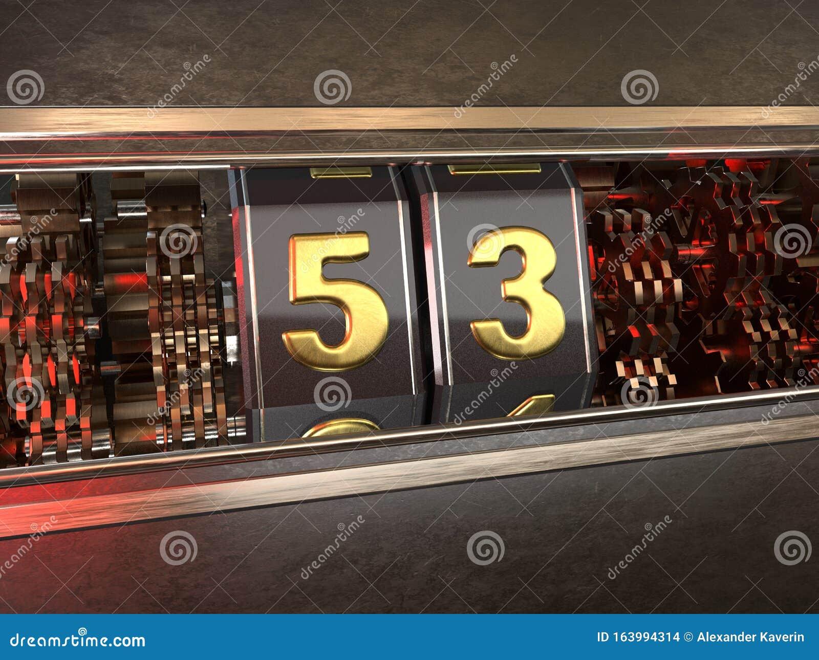 Number 53 Style Of Slot Machine Stock Illustration