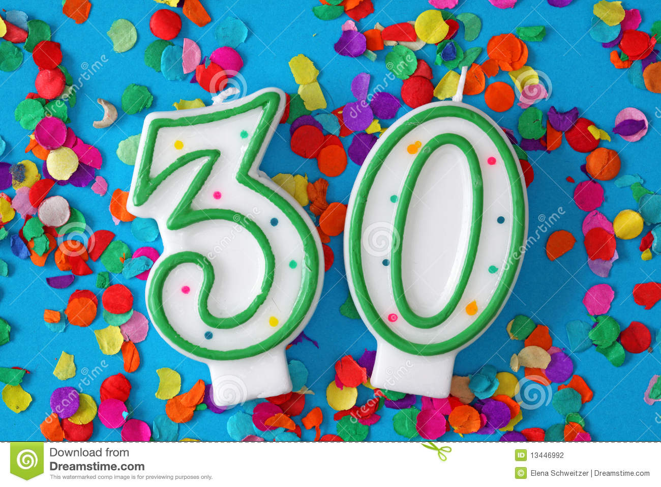 Number Thirty Birthday Candle Stock Photography - Image: 13446992