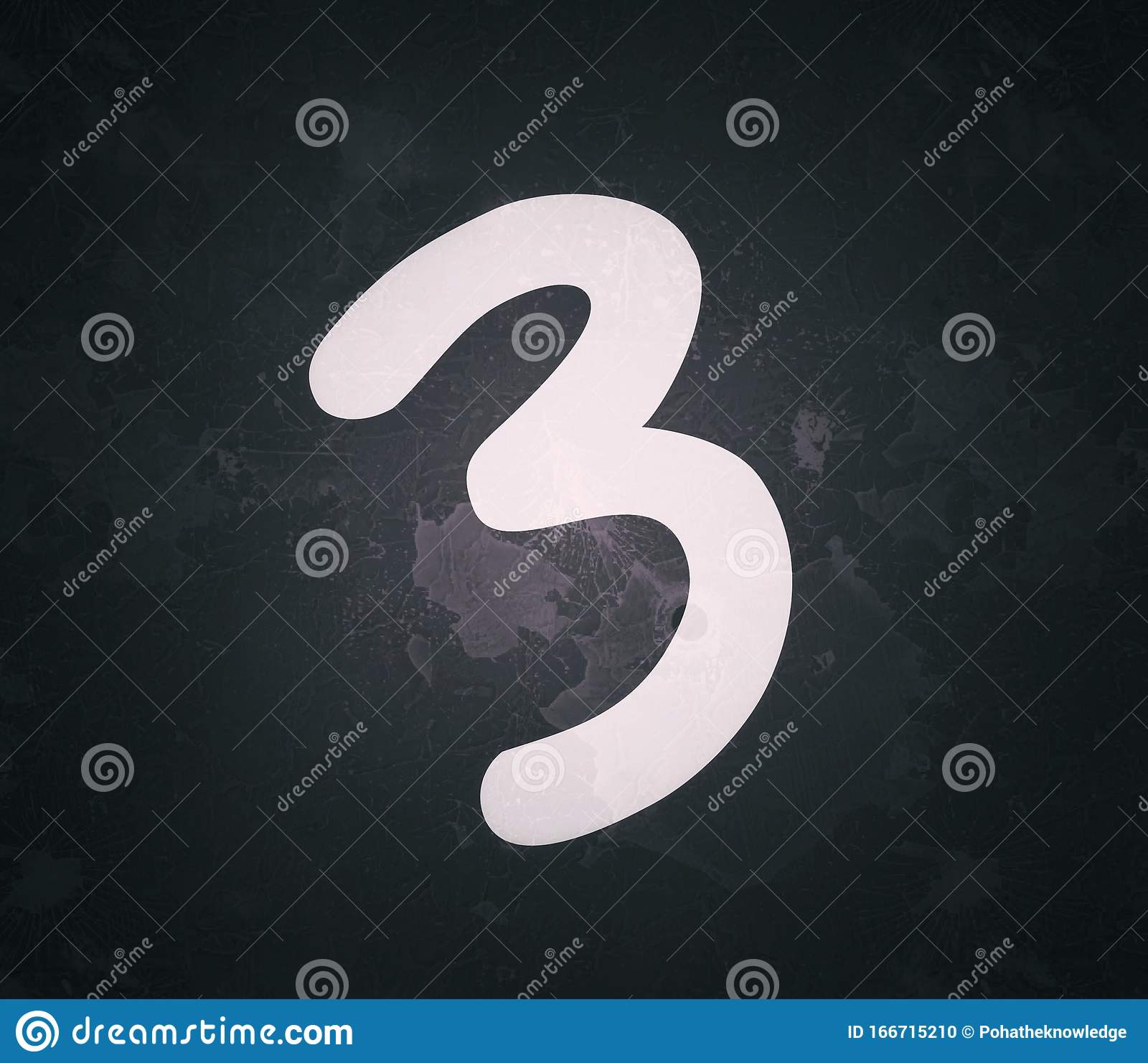 The Number Three 3 On The Dark Black And Blue Color Background Stock  Illustration - Illustration of number, background: 166715210