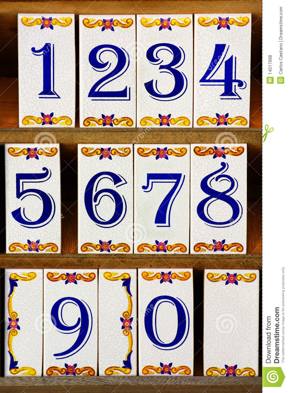 Number Tiles Royalty Free Stock Photos Image 14517998