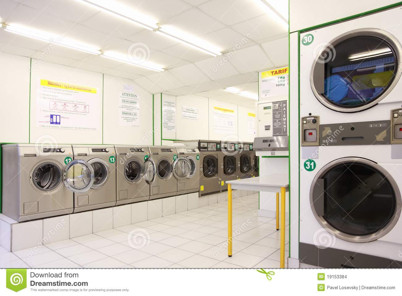 how to clean public laundry machine