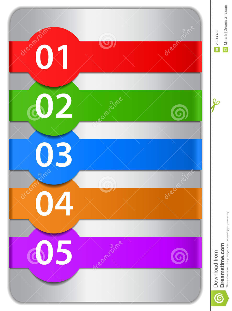 Numbered Design Templates Royalty Free Stock Images - Image: 26914469