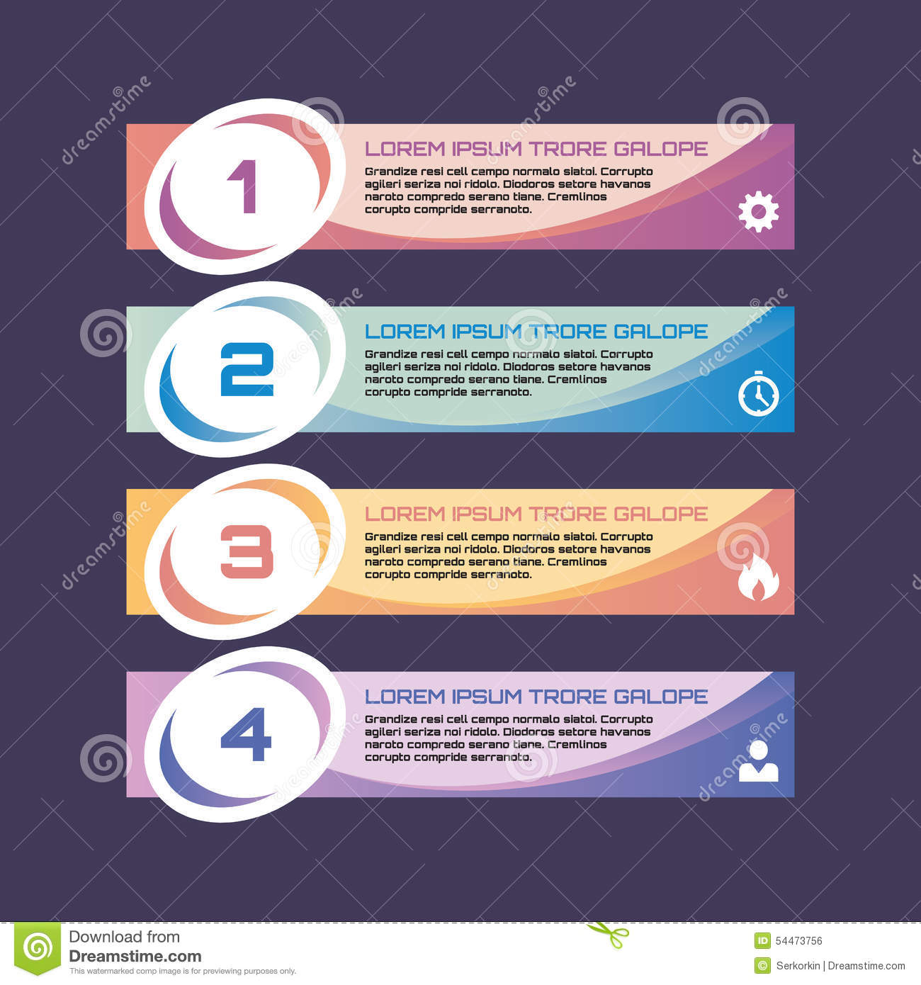 numbered option banners vector business concept for infographic