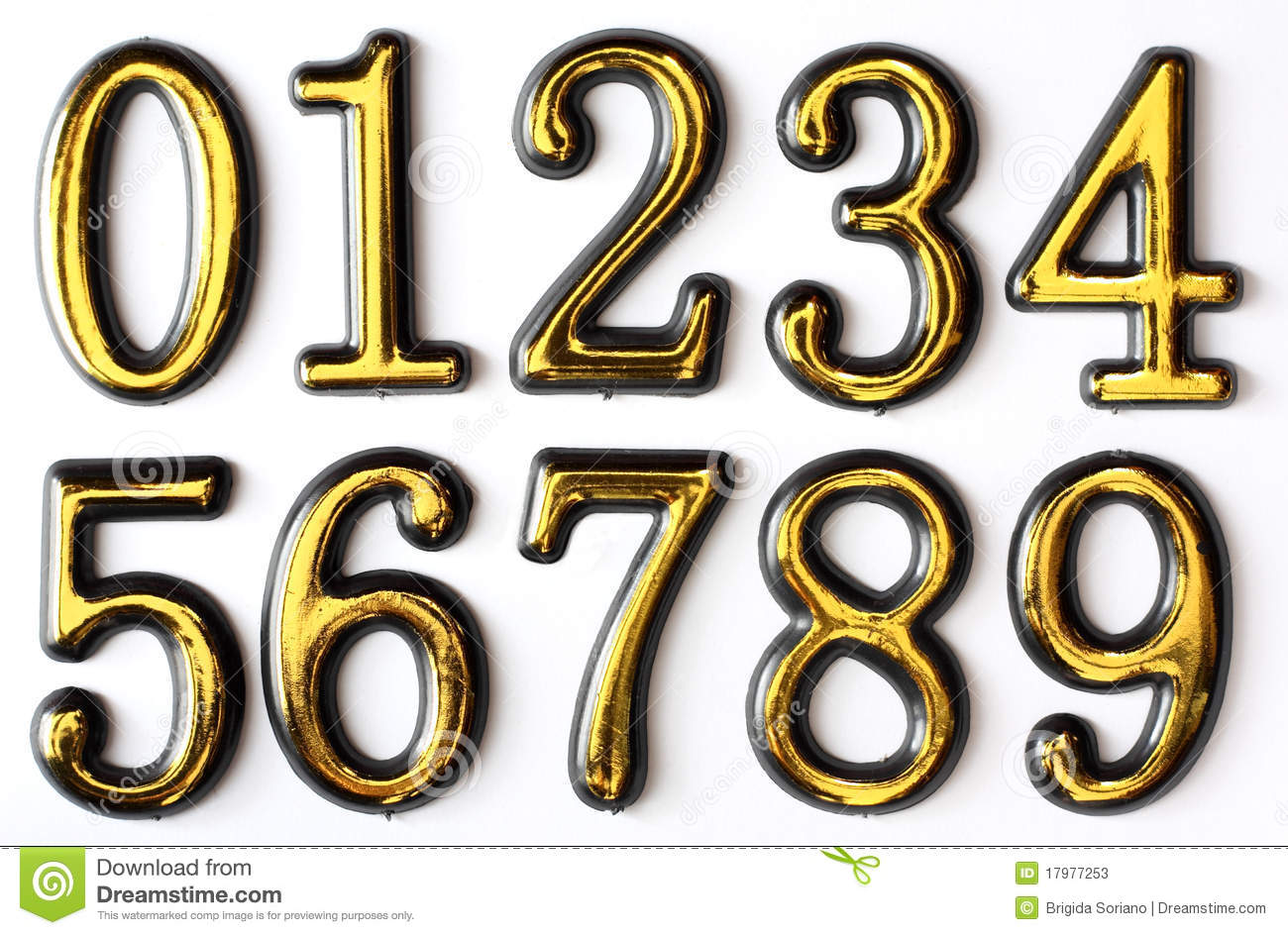 Numbers 0 To 9 Stock Photos Image 17977253