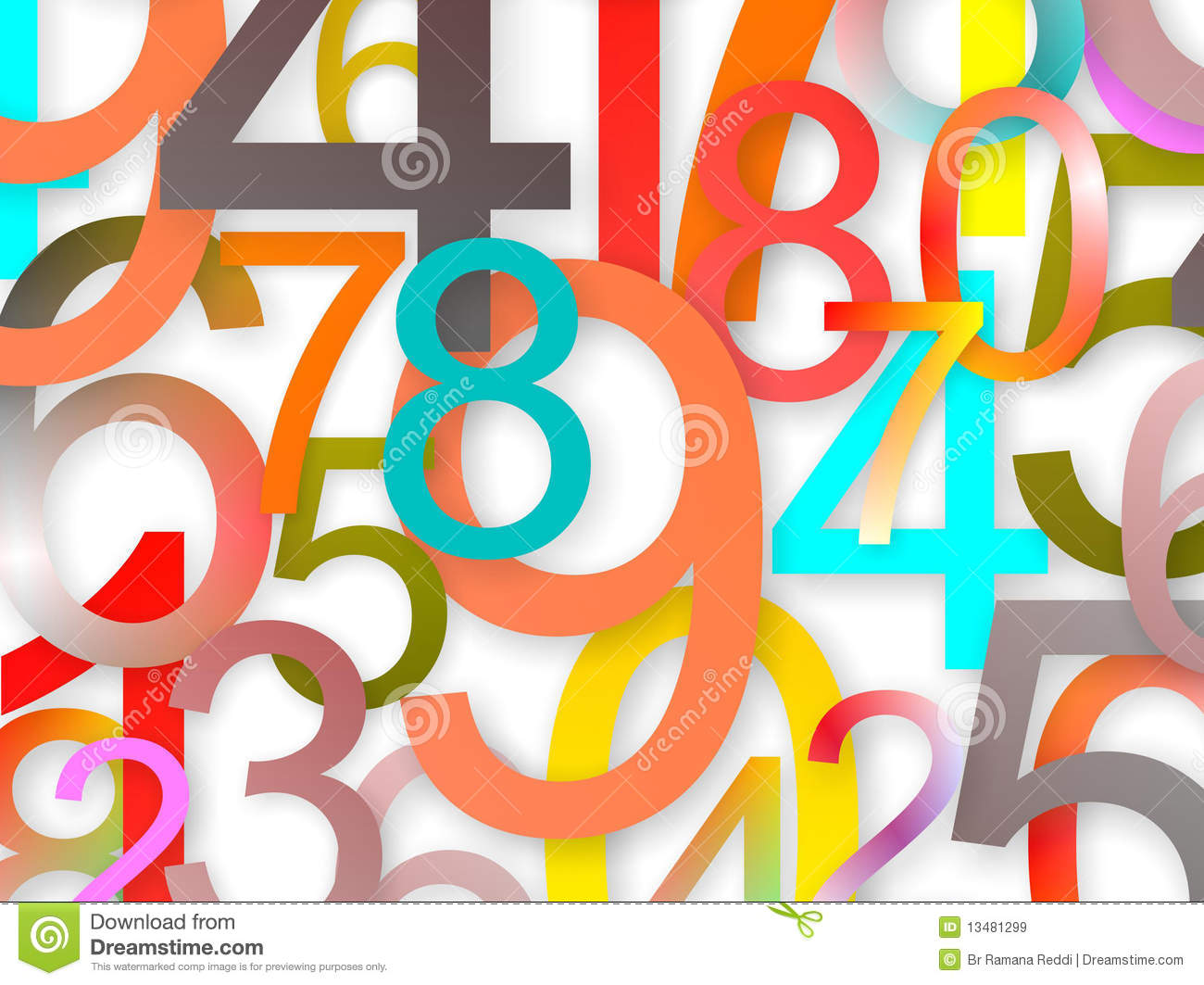 Numbers Background Royalty Free Stock Images - Image: 13481299