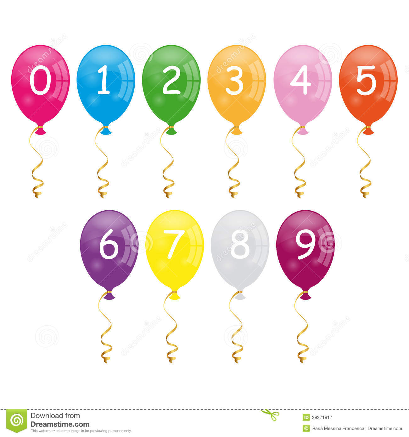 Numbers balloons stock vector image of golden for Number 1 decorations