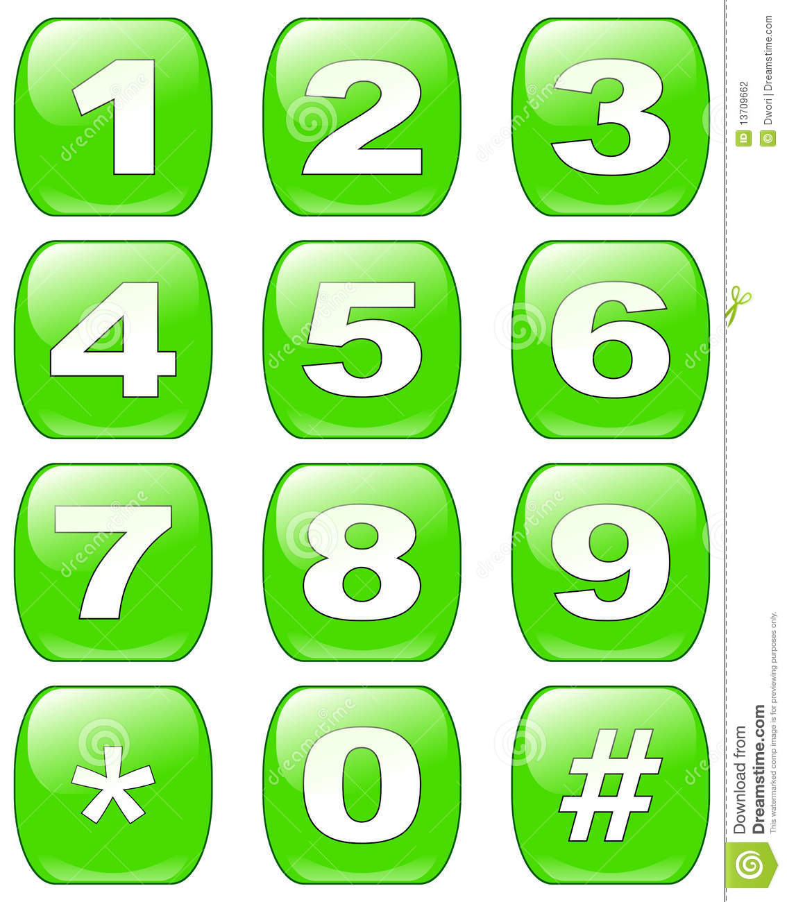 Numbers buttons stock photo. Image of business, communications ...