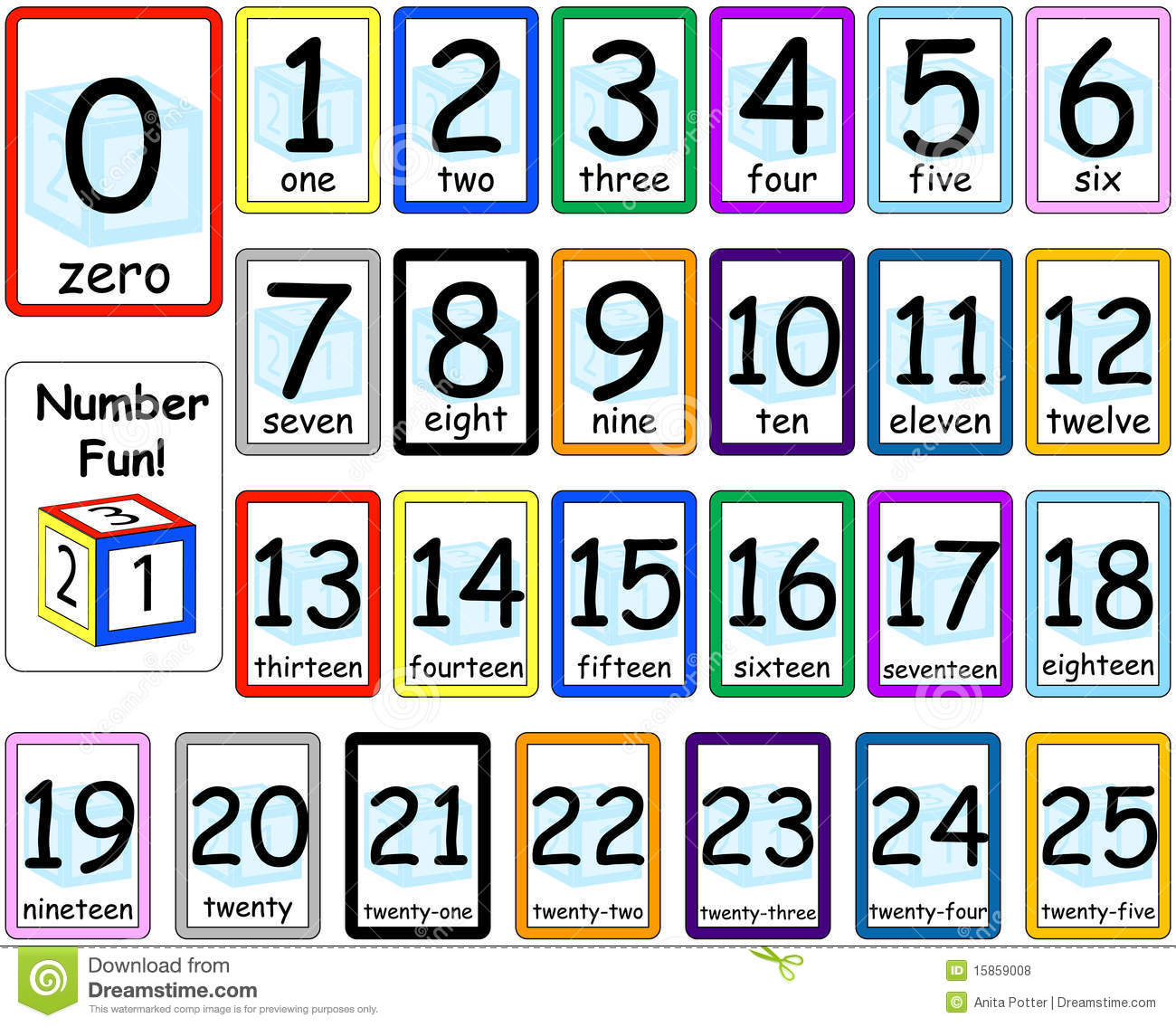 Numbers Flash Cards Set 0-25 Royalty Free Stock Photos - Image ...