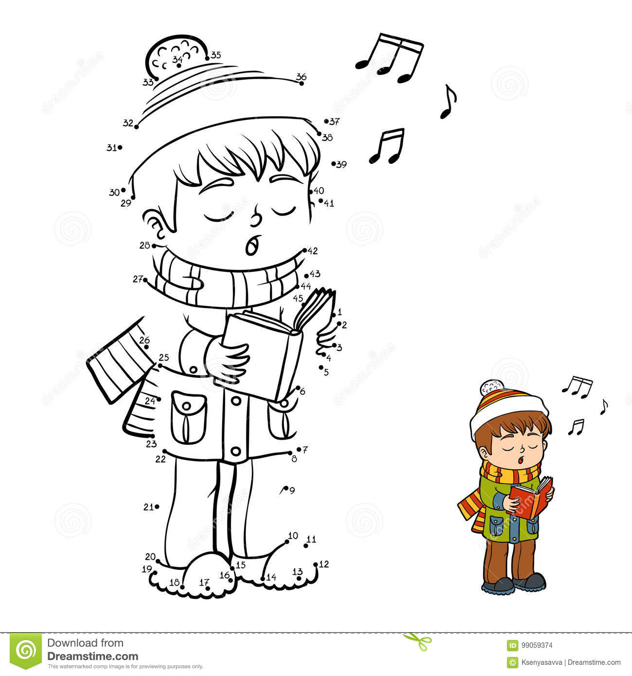 numbers game boy singing a christmas song
